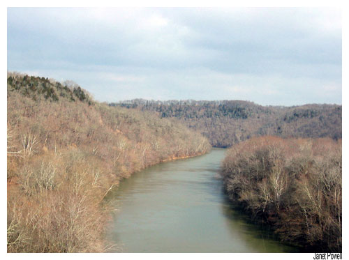 Kentucky River Anderson County winter sky Earth Healing