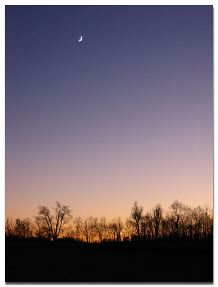 kentucky sunset moon earth healing daily reflections